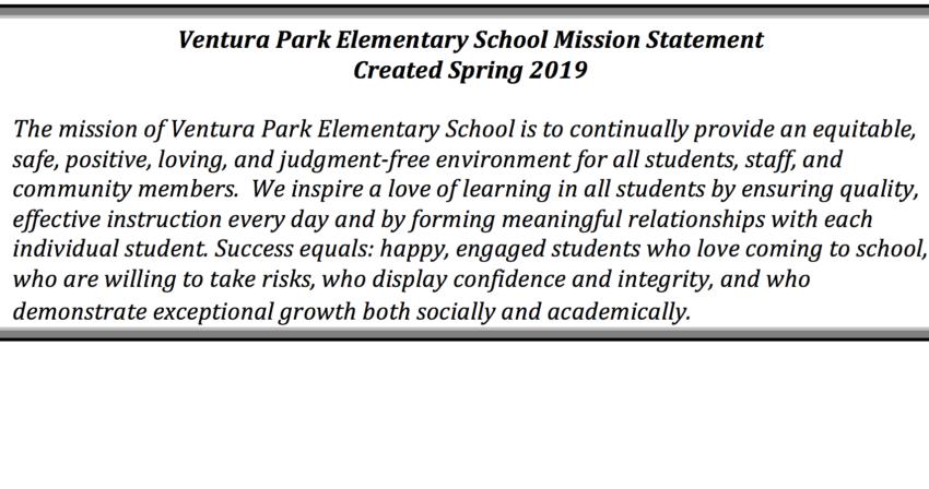 ventura park elementary mission statement