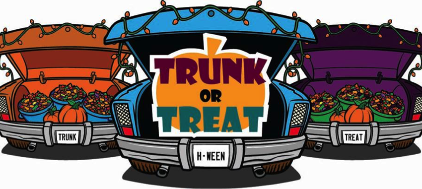 cars with open trunks trunk or treat