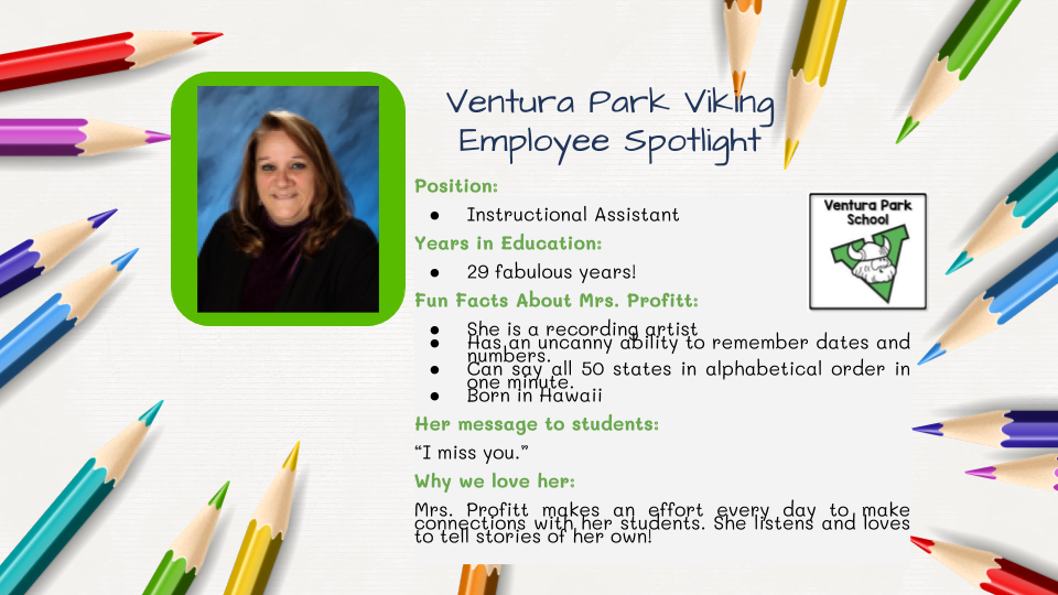 Employee Spotlight Card for Gina Profitt