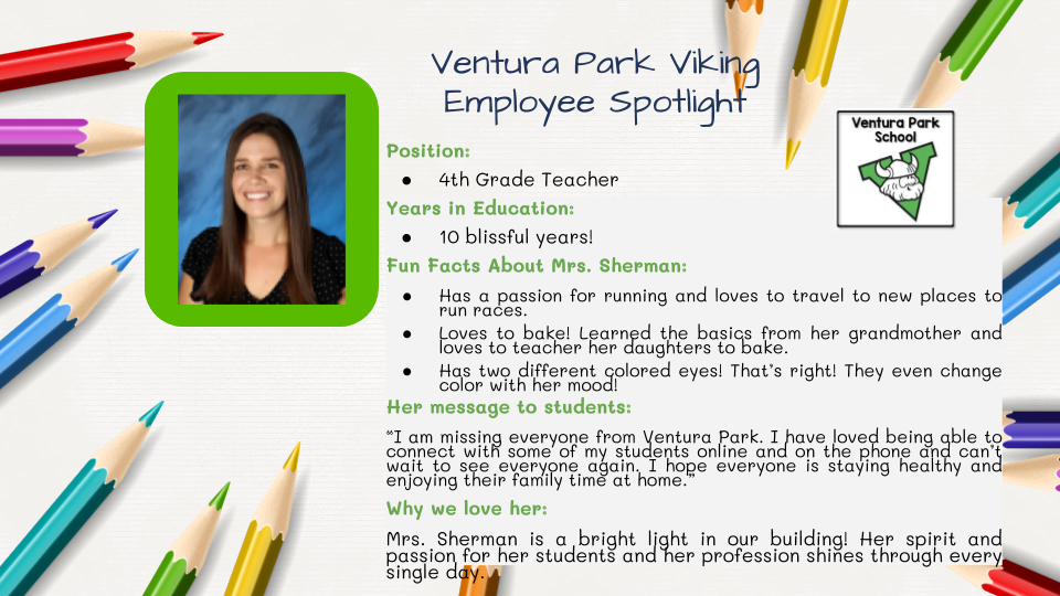 Employee Spotlight Card for Gina Sherman