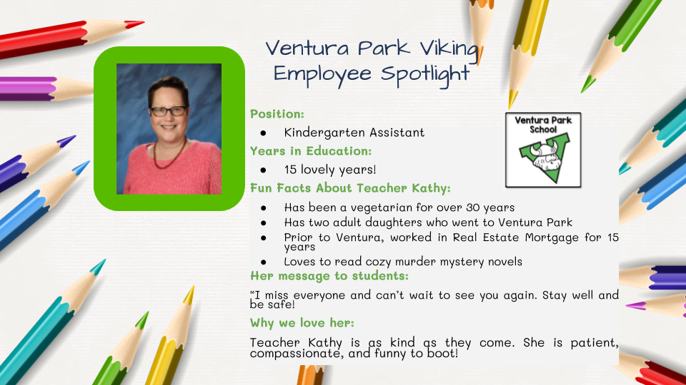 Employee Spotlight Card for Kathy Moss