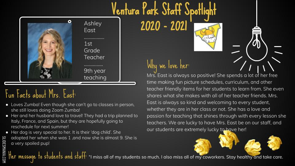 Ashley East Employee Spotlight Card