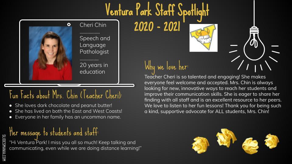 Employee Spotlight Card for Cheri Chin
