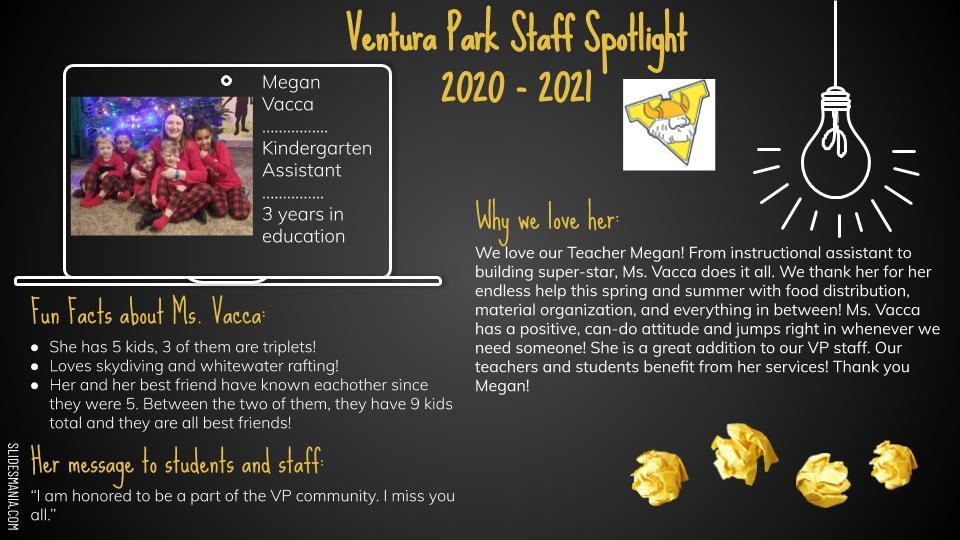 Employee Spotlight Card for Megan Vacca