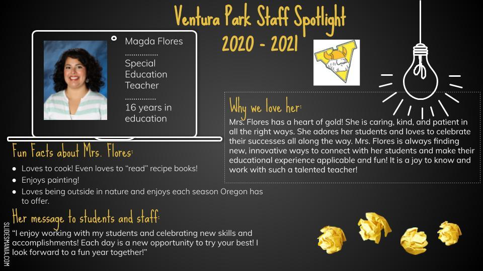 Magda Flores employee spotlight card