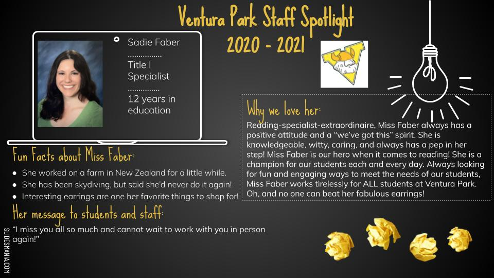 Sadie Faber employee spotlight card