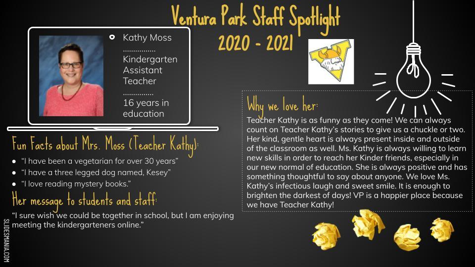 Kathy Moss Employee Spotlight Card