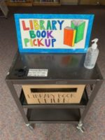 library book pick-up and return cart
