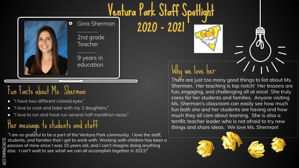 Gina Sherman Second Grade Teacher